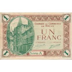 Brive - Pirot 33-2-A - 1 franc - Sans date - Etat : TTB