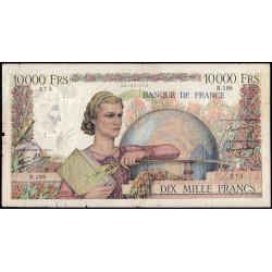 F 50-09 - 22/08/1946 - 10000 francs - Génie Français - Etat : B+ à TB-