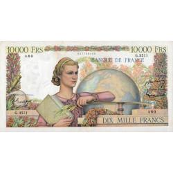 F 50-61 - 06/11/1952 - 10000 francs - Génie Français - Etat : TTB-