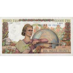 F 50-63 - 05/02/1953 - 10000 francs - Génie Français - Etat : TTB+