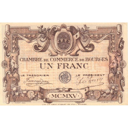 Bourges - Pirot 32-2-C - 1 franc - 1915 - Etat : SUP+