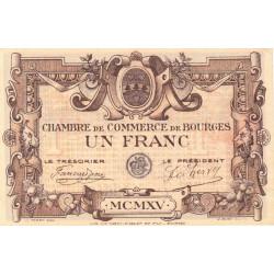 Bourges - Pirot 32-2 - Série C - 1 franc - 1915 - Etat : SUP+
