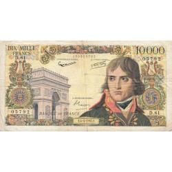 F 51-7 - 04/04/1957 - 10000 francs - Bonaparte - Etat : TB-