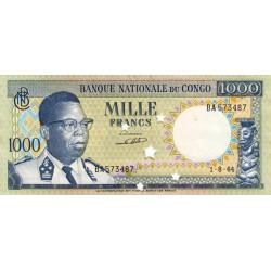 Congo (Kinshasa) - Pick 8b - 1'000 francs - Série BA - 01/08/1964 - Billet annulé - Etat : SPL