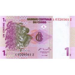 Rép. Démocr. du Congo - Pick 80r (remplacement) - 1 centime - 01/11/1997 - Etat : NEUF
