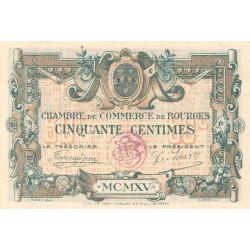 Bourges - Pirot 32-5-C - 50 centimes - 1915 - Etat : SUP+