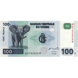Rép. Démocr. du Congo - Pick 92 - 100 francs - Série M W - 04/01/2000 - Etat : NEUF