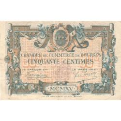 Bourges - Pirot 32-5-C - 50 centimes - 1915 - Etat : TTB