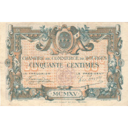 Bourges - Pirot 32-5 - Série C - 50 centimes - 1915 - Etat : TTB