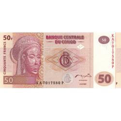 Rép. Démocr. du Congo - Pick 97 - 50 francs - Série KA P - 31/07/2007 - Etat : NEUF