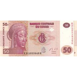 Rép. Démocr. du Congo - Pick 97A - 50 francs - Série KD K - 30/06/2013 - Etat : NEUF