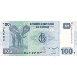 Rép. Démocr. du Congo - Pick 98 - 100 francs - Série MA V- 31/07/2007 - Etat : NEUF