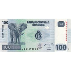 Rép. Démocr. du Congo - Pick 98A - 100 francs - Série MB B - 31/07/2007 - Etat : NEUF