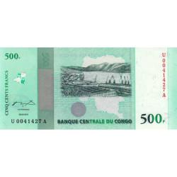 Rép. Démocr. du Congo - Pick 100 - 500 francs - Série U A - 30/06/2010 - Commémoratif - Etat : NEUF