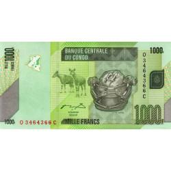 Rép. Démocr. du Congo - Pick 101a - 1'000 francs - Série Q C - 02/02/2005 - Etat : NEUF