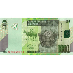 Rép. Démocr. du Congo - Pick 101b - 1'000 francs - 30/06/2013 - Etat : NEUF