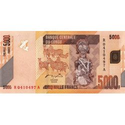 Rép. Démocr. du Congo - Pick 102a - 5'000 francs - 02/02/2005 - Etat : NEUF