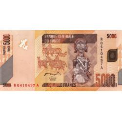Rép. Démocr. du Congo - Pick 102a - 5'000 francs - Série R A - 02/02/2005 - Etat : NEUF