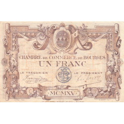 Bourges - Pirot 32-6 - Série C - 1 franc - 1915 - Etat : TTB