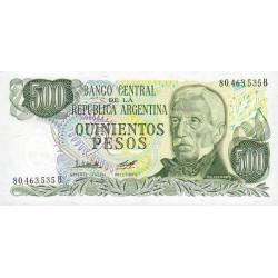 Argentine - Pick 303b - 500 pesos - Série B - 1977 - Etat : NEUF