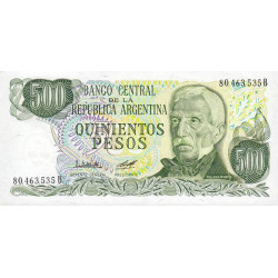 Argentine - Pick 303b2 - 500 pesos - Série B - 1977 - Etat : NEUF