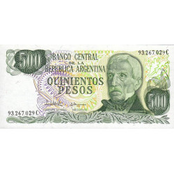Argentine - Pick 303c - 500 pesos - Série C - 1977 - Etat : NEUF