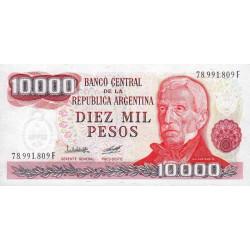 Argentine - Pick 306a3 - 10'000 pesos - Série F - 1976 - Etat : NEUF