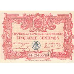 Bourges - Pirot 32-8 - Série D - 50 centimes - 1917 - Etat : SPL