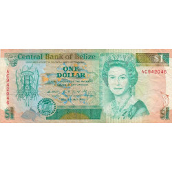 Belize - Pick 51 - 1 dollar - 01/05/1990 - Etat : TB+