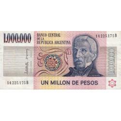 Argentine - Pick 310_3 - 1'000'000 pesos - Série B - 1983 - Etat : TB+ à TTB