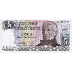 Argentine - Pick 312_2 - 5 pesos argentinos - Série A - 1983 - Etat : NEUF