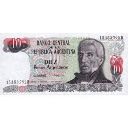Argentine - Pick 313_2 - 10 pesos argentinos - Série B - 1983 - Etat : NEUF