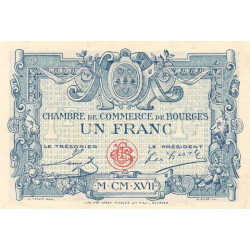 Bourges - Pirot 32-9 - Série D - 1 franc - 1917 - Etat : SPL+