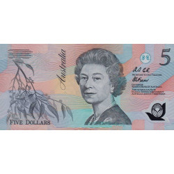 Australie - Pick 50a - 5 dollars - 1992 - Polymère - Etat : NEUF
