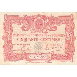 Bourges - Pirot 32-10-A - 50 centimes - 1917 - Etat : TTB