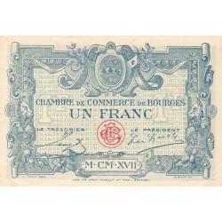 Bourges - Pirot 32-11 - Série A - 1 franc - 1917 - Etat : SPL
