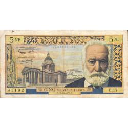 F 56-03 - 15/10/1959 - 5 nouv. francs - Victor Hugo - Série O.17 - Etat : TB-