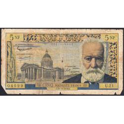 F 56-03 - 15/10/1959 - 5 nouv. francs - Victor Hugo - Etat : B-
