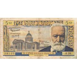 F 56-04 - 03/12/1959 - 5 nouv. francs - Victor Hugo - Etat : TB-