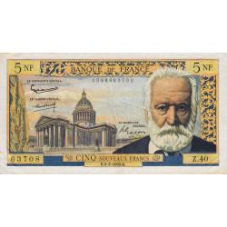 F 56-05 - 04/02/1960 - 5 nouv. francs - Victor Hugo - Etat : TTB à TTB+