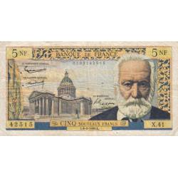 F 56-05 - 04/02/1960 - 5 nouv. francs - Victor Hugo - Etat : TB