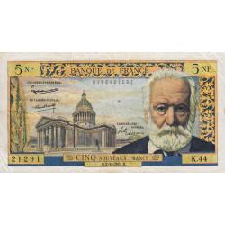 F 56-06 - 02/02/1961 - 5 nouv. francs - Victor Hugo - Etat : TB+ à TTB-