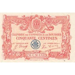 Bourges - Pirot 32-12 - Série I - 50 centimes - 1922 - Etat : SUP+