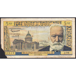 F 56-10 - 01/02/1962 - 5 nouv. francs - Victor Hugo - Etat : AB