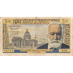 F 56-11 - 01/03/1962 - 5 nouv. francs - Victor Hugo - Etat : B