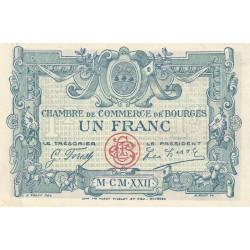 Bourges - Pirot 32-13-X- 1 franc - 1922 - Etat : SPL+