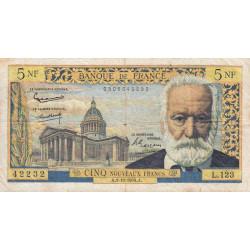 F 56-16 - 01/10/1964 - 5 nouv. francs - Victor Hugo - Etat : TB
