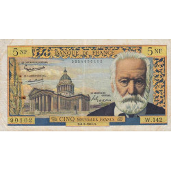 F 56-18 - 06/05/1965 - 5 nouv. francs - Victor Hugo - Remplacement - Etat : TB+