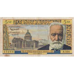 F 56-19 - 01/07/1965 - 5 nouv. francs - Victor Hugo - Etat : TB