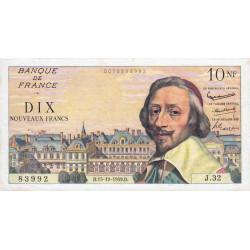 F 57-03 - 15/10/1959 - 10 nouv. francs - Richelieu - Série J.32 - Etat : TTB+